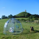 The Travelling Open Studio, Glastonbury Tor, 2016